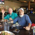 Gary and Michael enjoying their food?